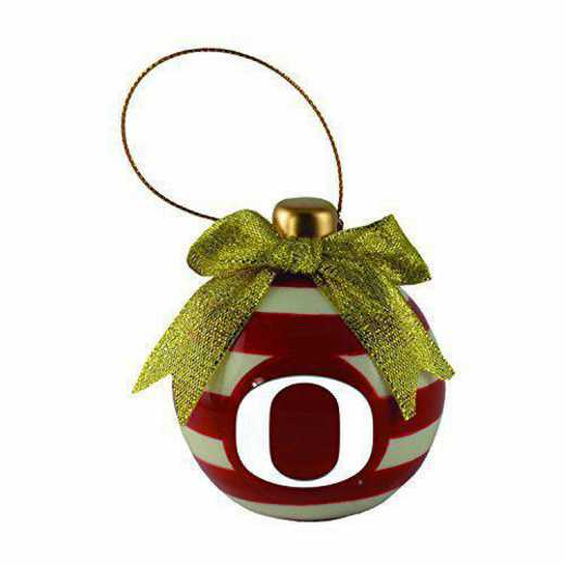 CER-4022-OREGON-IND: LXG CERAMIC BALL ORN, Oregon
